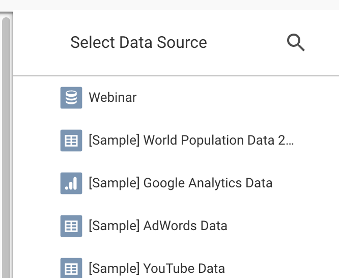 Select your data source
