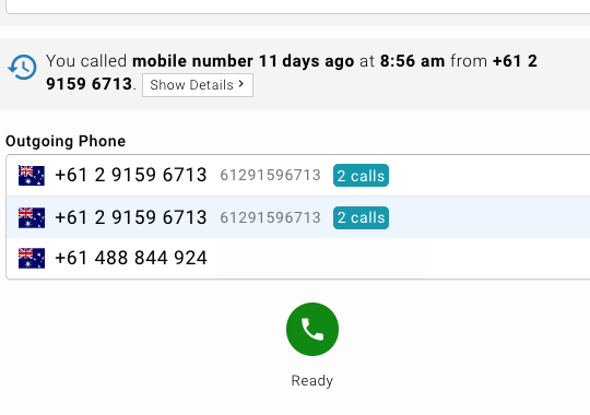 Multiple outbound phone numbers